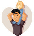 happy father holding baup playing together vector image vector image