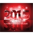 Happy New Year sparkles background card vector image vector image