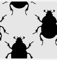 insects seamless vector image vector image