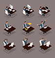 isometric business creation career growth vector image vector image