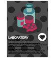 laboratory color isometric poster vector image