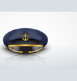 Light Background Captain peaked cap with gold vector image