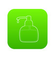 liquid soap icon green vector image vector image