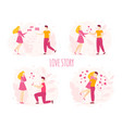love story romantic couple bride groom newlyweds vector image