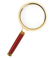 lupe magnifying glass on white 3d vector image vector image