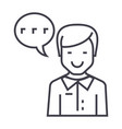 man talking line icon sign vector image vector image