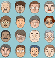 Men faces set asia face collection vector image vector image