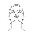 minimal woman face vector image vector image