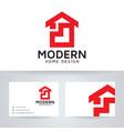 modern home design logo template vector image vector image