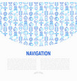navigation and direction concept vector image vector image