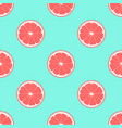 pattern with grapefruit vector image vector image