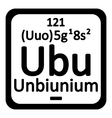 Periodic table element unbinilium icon vector image vector image