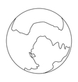 Pluto icon in outline style isolated on white vector image vector image