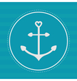 round label with anchor in shapes heart dash vector image