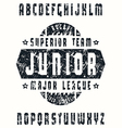 Sanserif font in sport style rugby vector image vector image