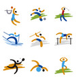 set sport expressive icons vector image vector image