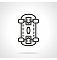 Skateboarding black line design icon vector image vector image