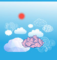 sky background with different clouds vector image vector image