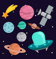 space landing planets spaceship solar system vector image vector image
