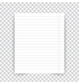 striped school notebook paper sheet on vector image vector image