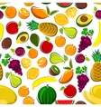 Sweet and fresh fruits seamless pattern background vector image vector image