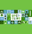 upcycling green flat geometric cartoon icon banner vector image vector image