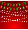 Christmas card with decorations of flags vector image