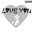 dog with love lettering vector image