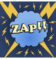 ZAP comic cartoon vector image
