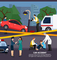 car accident flat style vector image