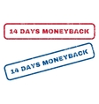 14 Days Moneyback Rubber Stamps vector image vector image
