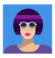 abstract female portrait in sunglasses party vector image vector image