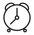 alarm clock line icon time vector image