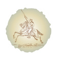 American revolution soldier riding horse vector image vector image