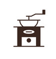 antique coffee grinder isolated linear icon vector image vector image