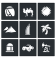 Arab Emirates icons vector image