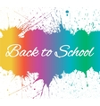 Back to School Banner With Bright Ink Blots vector image