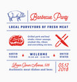 barbecue party signs titles inscriptions and vector image vector image