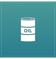 barrels of oil icon vector image