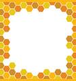 bee honeycomb pattern backgrounds vector image vector image