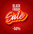 black friday discounts are 50 percent square red vector image
