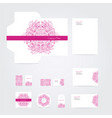 blank corporate identity set vector image vector image