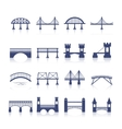 Bridge Icons Set vector image