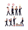 business situations - go to work idea generation vector image vector image