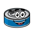 Cartoon happy tin can character vector image