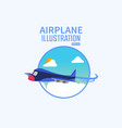 cartoonist 3d airplane background concept design vector image vector image