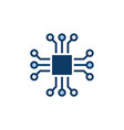 chip icon - computer chip symbol or design vector image