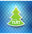 Christmas symbol tag vector image vector image
