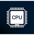 Circuit board icon Technology scheme square symbol vector image