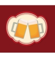 cold beer glass vector image vector image